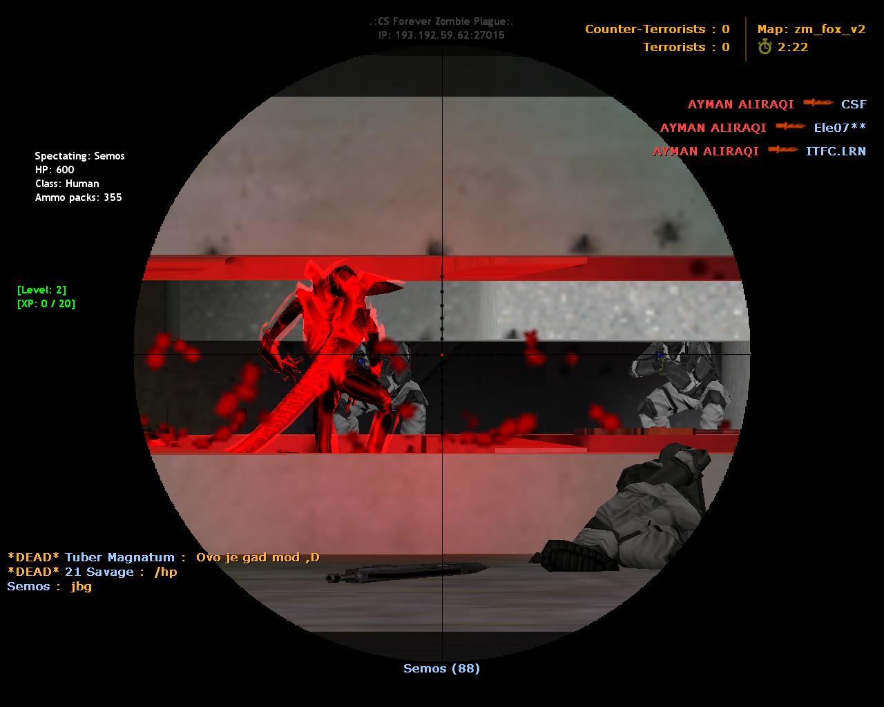 God Mode Counter Strike Zombie Plague