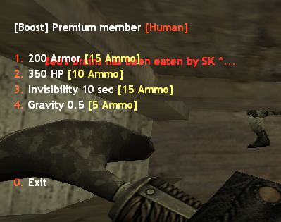 Premium Member Human Menu Counter Strike