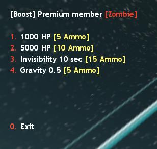 Premium Member Zombie Menu Counter Strike